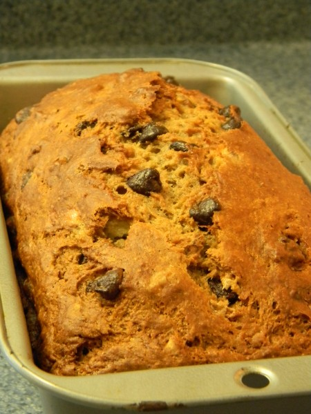 Chocolate walnut quick bread