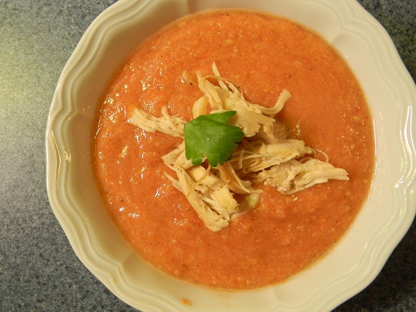 Cool tomato summer soup